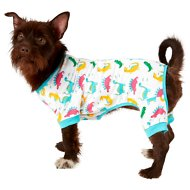 Frisco Dinosaur Print Dog & Cat Jersey PJs, Medium