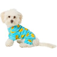 Frisco Dog & Cat Cozy Patterned Fleece PJs, Rubber Duck, X-Small