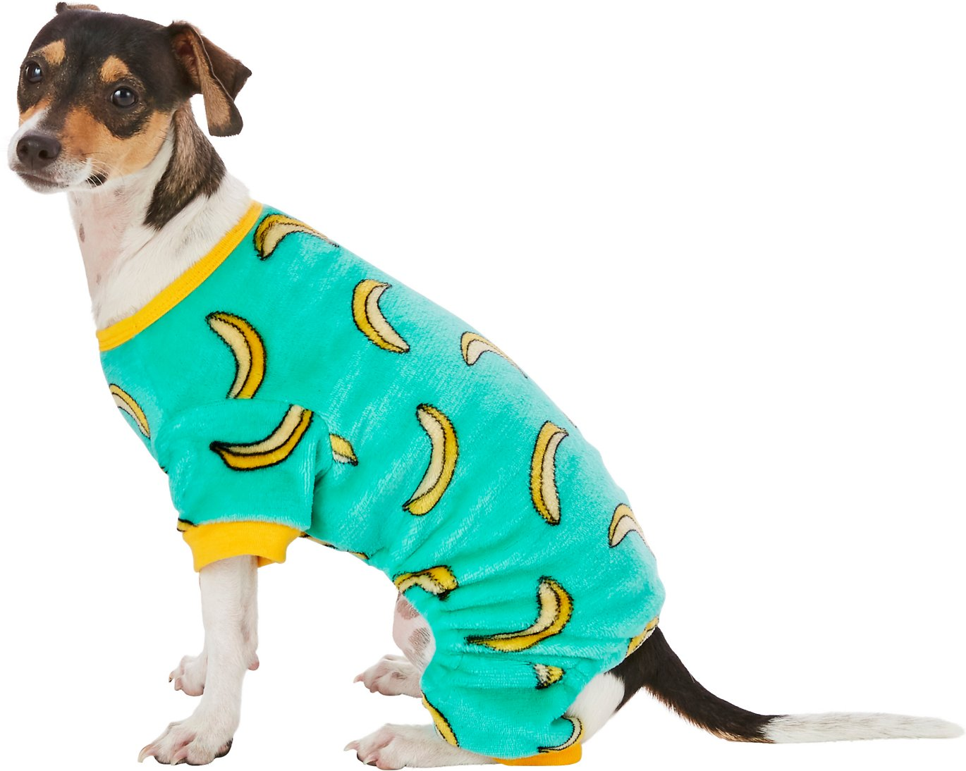ba20485cd Frisco Banana Print Dog   Cat Cozy Fleece PJs