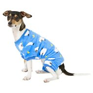 Frisco Bouncy Sheep Print Dog & Cat Cozy Fleece PJs, Small