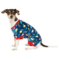 Frisco Rocket Ship Print Dog & Cat Cozy Fleece PJs, Small