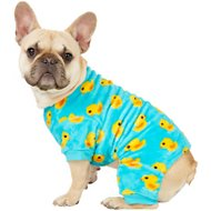 Frisco Dog & Cat Cozy Patterned Fleece PJs, Rubber Duck, Medium