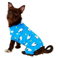 Frisco Counting Sheep Print Dog & Cat Cozy Fleece PJs, Medium