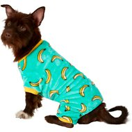 Frisco Banana Print Dog & Cat Cozy Fleece PJs, Medium