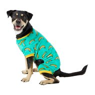 Frisco Banana Print Dog & Cat Cozy Fleece PJs, Large