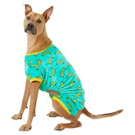 Frisco Banana Print Dog & Cat Cozy Fleece PJs, X-Large