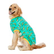 Frisco Banana Print Dog & Cat Cozy Fleece PJs, XX-Large