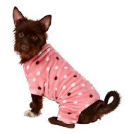 Frisco Dog & Cat Cozy Polka Dot Fleece PJs, Pink Polka Dot, Medium