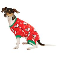 Frisco Dog & Cat Cozy Holiday Fleece PJs, Holiday Print, Small