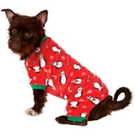 Frisco Holiday Penguins Dog & Cat Cozy Fleece PJs, Medium