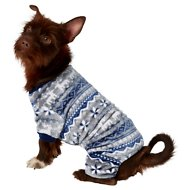 Frisco Dog & Cat Cozy Holiday Fleece PJs, Fair Isle, Medium