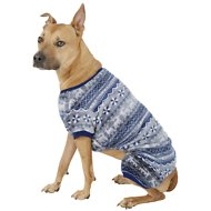 Frisco Holiday Fair Isle Dog & Cat Cozy Fleece PJs, X-Large