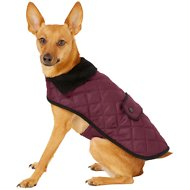 Frisco Dog & Cat Quilted Jacket, Maroon, Small