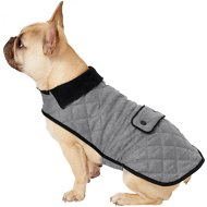 Frisco Dog & Cat Quilted Jacket, Gray, Medium