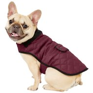 Frisco Dog & Cat Quilted Jacket, Maroon, Medium