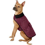 Frisco Dog & Cat Quilted Jacket, Maroon, X-Large