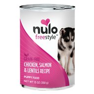 Nulo Freestyle Chicken, Salmon & Lentils Recipe Grain-Free Puppy Canned Dog Food, 13-oz, case of 12