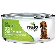 Nulo Freestyle Duck & Chickpeas Recipe Grain-Free Small Breed & Puppy Canned Dog Food, 6-oz, case of 24