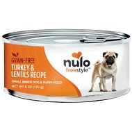 Nulo Freestyle Turkey & Lentils Recipe Grain-Free Small Breed & Puppy Canned Dog Food, 6-oz, case of 24