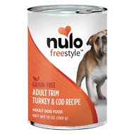 Nulo Freestyle Turkey & Cod Recipe Grain-Free Adult Trim Canned Dog Food, 13-oz, case of 12