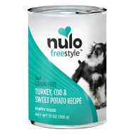 Nulo Freestyle Turkey, Cod & Sweet Potato Recipe Grain-Free Puppy Canned Dog Food, 13-oz, case of 12