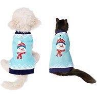 Frisco Dog & Cat Holiday Snowman Sweater, X-Small