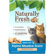 Naturally Fresh Alpine Meadow Scented Clumping Walnut Cat Litter