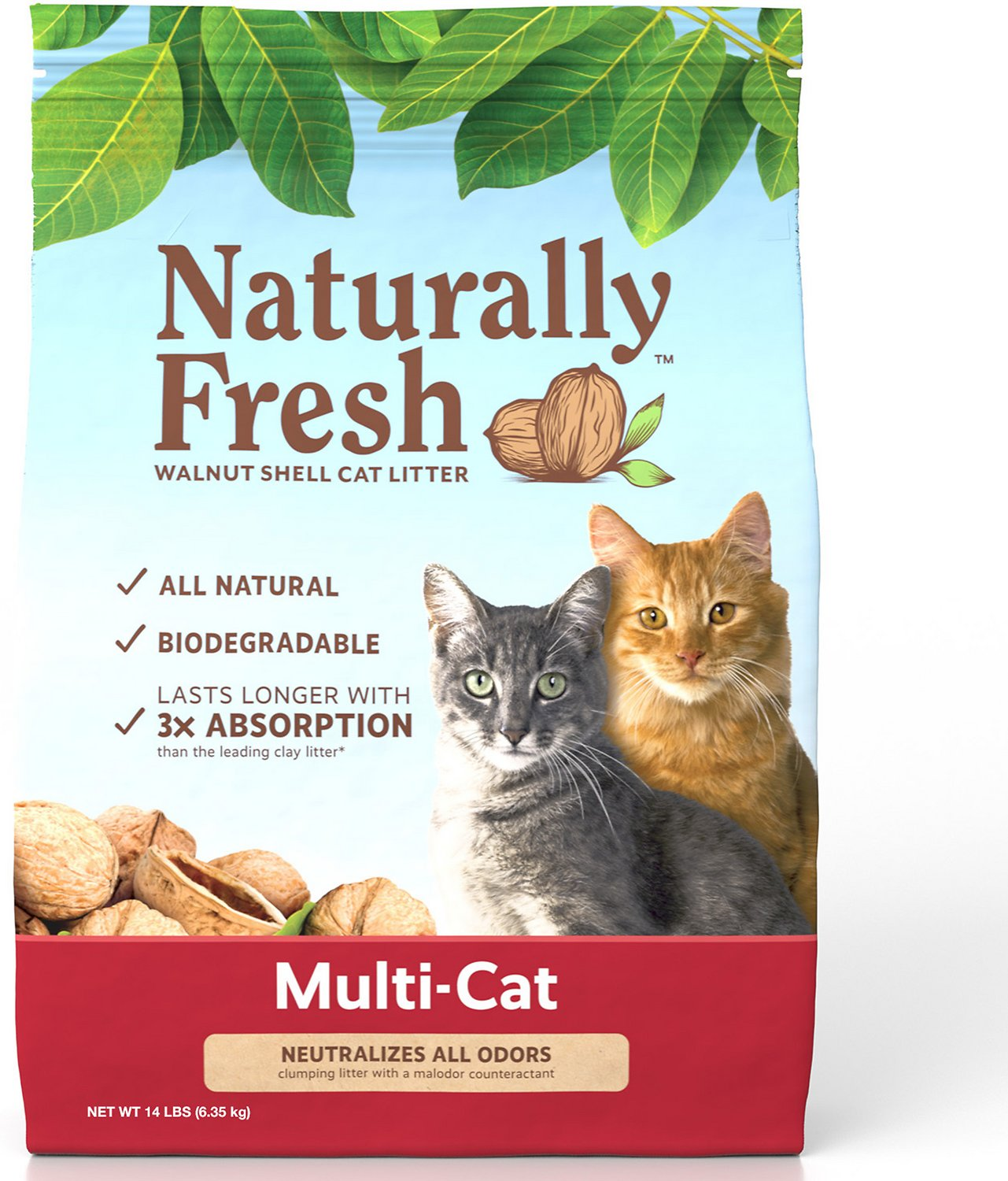 Naturally Fresh Walnut Based Multi Cat Quick Clumping Cat