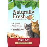 Naturally Fresh Walnut-Based Multi-Cat Quick-Clumping Cat Litter, 26-lb bag