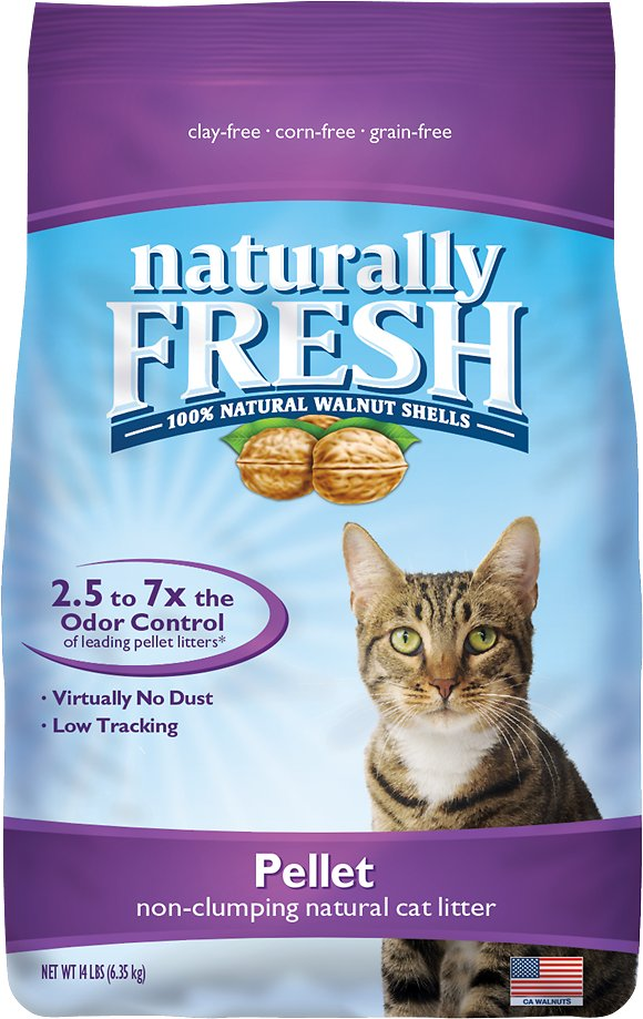 Naturally Fresh Walnut-Based Pellet Non-Clumping Cat Litter, 14-lb bag
