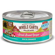Whole Earth Farms Grain-Free Small Breed Recipe Duck Dinner Canned Dog Food, 3-oz, case of 24
