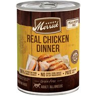 Merrick Grain-Free Real Chicken Canned Dog Food, 12.7-oz, case of 12