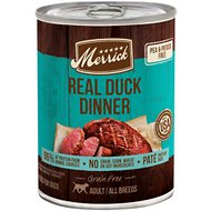 Merrick Grain-Free Real Duck Canned Dog Food, 12.7-oz, case of 12