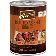 Merrick Grain-Free Real Texas Beef Canned Dog Food, 12.7-oz case of 12