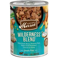 Merrick Grain-Free Wilderness Blend Canned Dog Food, 12.7-oz case of 12