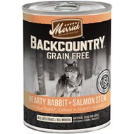 Merrick Backcountry Grain-Free Hearty Rabbit & Salmon Stew Canned Dog Food, 12.7-oz, case of 12