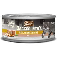 Merrick Backcountry Grain-Free Real Chicken Recipe Pate Canned Cat Food, 3-oz case of 24