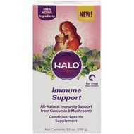 Halo Whole Food Immune Support Powder Dog Supplement, 3.5-oz bottle