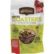 Rachael Ray Nutrish Grain Free Savory Roasters, Beef Roast Recipe Dog Treats, 3-oz bag