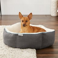 Frisco Sherpa Cuddler Hexagon Dog Bed, Gray
