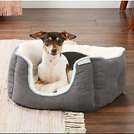 Frisco Square Deep Bolster Dog Bed