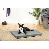 Helix Durable Lounger Rectangular Dog Bed, Dark Gray, Large