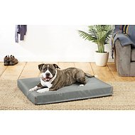 Frisco Lounger Rectangular Dog Bed, Dark Gray, X-Large