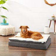 Frisco Plush Orthopedic Pillowtop Dog Bed w/Removable Cover