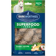 Barkworthies Rabbit Jerky with Apple & Kale Dog Treats, 3-oz bag