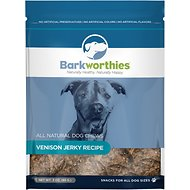 Barkworthies Venison Jerky Recipe Dog Treats, 3-oz bag