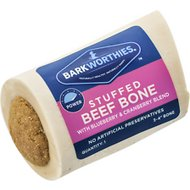 Barkworthies Shin Bone Stuffed with Cranberry & Blueberry Blend Dog Treat, 3 - 4 in