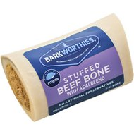 Barkworthies Shin Bone Stuffed with Acai Blend Dog Treat, 3 - 4 in
