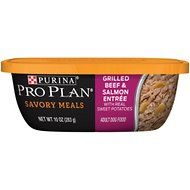 Purina Pro Plan Savory Meals Grilled Beef & Salmon Entree With Real Sweet Potatoes Wet Dog Food, 10-oz tub, case of 8