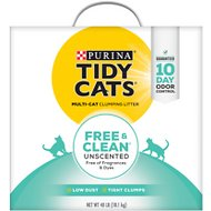 Tidy Cats Free & Clean Unscented Cat Litter, 40-lb box